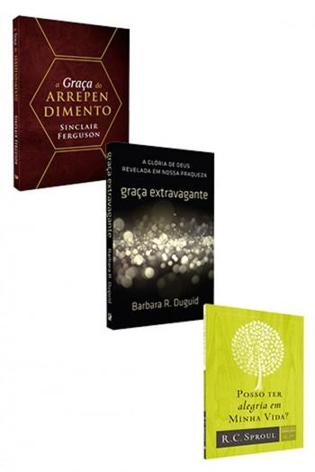Kit 3 Livros - Perdão e Graça