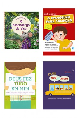 Kit 4 livros - Preparando as Crianças no Evangelho