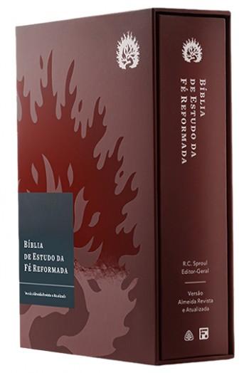 A Bíblia de Estudo da Fé Reformada - Capa Dura Bordô e Estojo