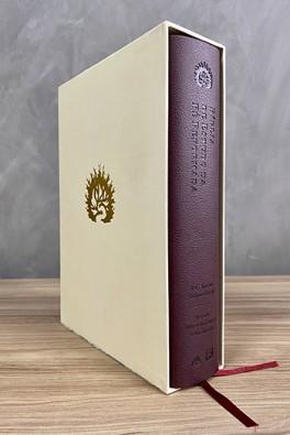 A Bíblia de Estudo da Fé Reformada - Capa Luxo Vinho e Estojo
